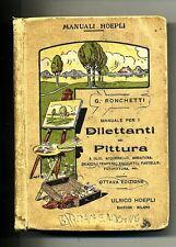 G.Ronchetti # MANUALE PER I DILETTANTI DI PITTURA # Hoepli 1925 - Manuali