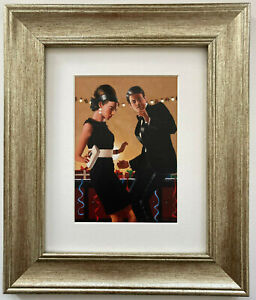 Let's Twist Again by Jack Vettriano Framed & Mounted Art Print Picture Gold