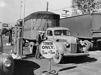 ART PRINT POSTER VINTAGE PHOTO GAS STATION TRUCK STOP NOFL1505