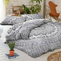Indian Urban Outfitters Elephant Mandala Duvet Doona Cover Reversible Quilt Set