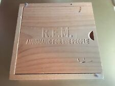 "R.E.M. ""AUTOMATIC FOR THE PEOPLE"" 1CD WOODEN BOX LIMITED EDITION WITH CARDS"