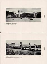 1950s Prints MENAI STRAIT Bridges Architects Telford/Stephenson & Thompson WALES