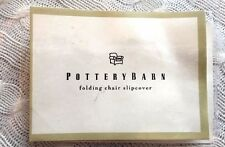 POTTERY BARN Thick Cotton Folding Chair SlipCovers (Set of 4)
