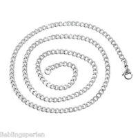 L/P: 1 Edelstahl 52cm Kette Halsschmuck Halskette Silberfarbe
