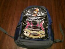 Hotwheel Backpack Hot wheels motorsports HWMS Logo purple gray clear flame skull