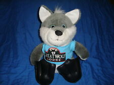 """The Petting Zoo Plush Wolf with flippers from Great Wolf Lodge 12"""" tall"""