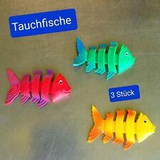 Tauchspielzeug 3er Set Fische Tauchspiel Kinder Tauchtiere Tauchfische Tauchset