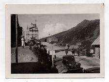 Photo ancienne Auto Automobile Voiture Frontière Italienne Italie Italia 1930