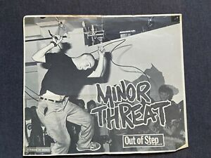 MINOR THREAT Out Of Step With The World poster / flyer 1980's harDCore punk rock