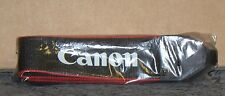 """NEW"" Black and Red Canon EOS Digital Camera Strap"