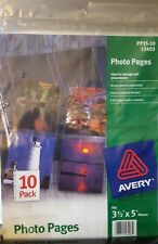 Photo Storage Pages for Four 31/2 x 5 Horizontal Photos, 3-Hole Punched, 10/Pack