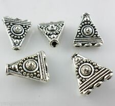 6pcs Tibetan silver 1-3 Hole triangle Space Bead Charm Connectors 14.5x16mm