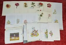COLLECTION OF 57 WATERCOLORS ON PAPER. SIGNED GORGUES. TWENTIETH CENTURY.