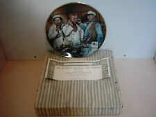 Three Stooges Dr Howard Dr Fine Franklin Mint 1994 Plate With Box & Coa New