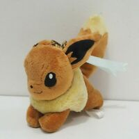 "Eevee Pokemon Center 2013 Charm Mascot Keychain Plush 5"" Toy Doll Japan"