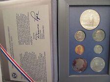 1986 US Mint Prestige set, Liberty silver dollar, 7 proof coins, mint pkg, coa