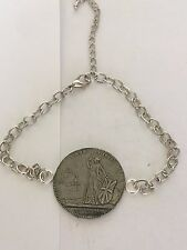 Charles Edward Stuart Coin WC39 From Fine English Pewter on a Anklet / Bracelet