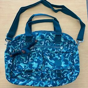 Kipling Bag Cheetah turquoise Animal Print New with Tags Sien Monkey