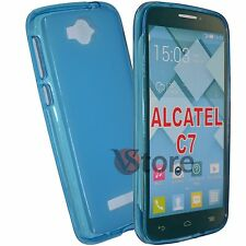 Cover Caso Para Alcatel Un Toque Pop C7 7041D AZUL GEL TPU silicone