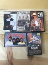 Lot of 5 Country Cassette Tapes *Garth Brooks Randy Travis Clint Black Alabama*