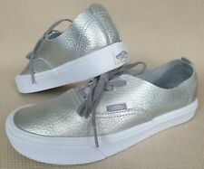 Vans Ultracush Lite Womens Trainers Metalic Silver Lace Up Shoes UK 5 EUR 38