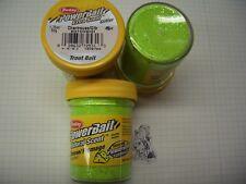 Berkley Power Bait trout Bait glitter queso Chartreuse 3x50g-cristal € 100g/6,66