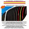 Adesivo Griglia Radiatore pvc giallorosso yellow red strips sticker car radiator
