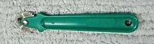 "Singer vintage green plastic handle old 5"" sewing pattern marker wheel FREE S/H"