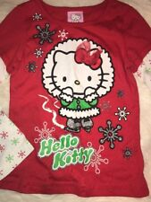 NWT Hello Kitty Girl Xmas Holiday Christmas Red Long Sleeve Sz 4t