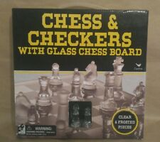 Chess and Checkers With Glass Chess Board