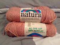 NATURA 100% Acrylic No Dye Lot Yarn 18 Pale Rose 4-Ply Worsted Weight Skeins