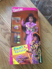 Mattel 1993 PAINT 'n DAZZLE BARBIE doll Brunette #10059 NRFB