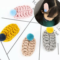 Trendy Winter Cute Hairball BB Clip Girls Hair Clips Accessories For Kids gifts