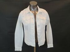 TOMMY HILFIGER OPTIC WHITE DENIM JACKET  SIZE S/P NWT