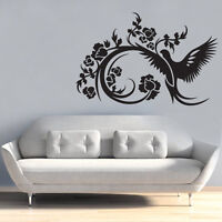 bird flower love sky decor bedroom Quote Wall Stickers Art Removable Decals DIY