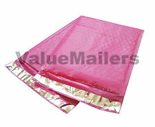 """100 #000 PINK Poly Bubble Mailers Envelopes Bags 4x8 Extra Wide Bag 4"""" x 8"""""""