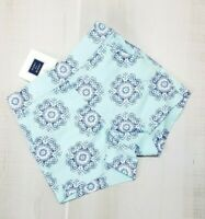 Janie and Jack Shorts Baby Girl 3-6 Months Cotton Blue Floral Aqua & NWT Infant