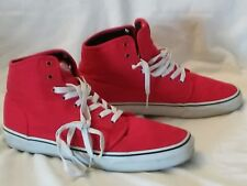 VANS OFF THE WALL SKATEBOARD RED HIGHTOP SHOES SIZE  MENS 12 Mint Condition