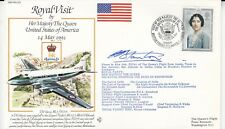 RV20bC Royal Visit  HM The Queen to U.S.A.Flown Signed Navigator  Flt Lt R Stant