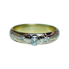 George Sawyer Mokume Gane Diamond Ring 18K Gold Designer Estate