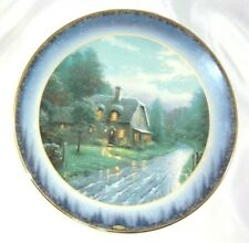 Thomas Kinkade Limited Collector Plate 1998 Moonlit Lane Peaceful Retreats Nice!
