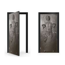 Han Solo in Carbonite Vinyl Sticker for Door / DoorWrap / Door Skin / Door St...