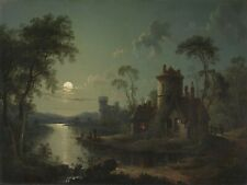 """Sebastian Pether : """"River Scene"""" (1840) — Giclee Fine Art Print"""