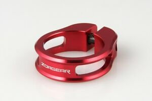 ZOAGEAR Light-weight Bike Bicycle Cycle Seatpost Seat Post Clamp 28.6 mm Red