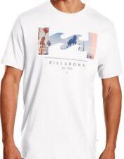 "Billabong t-shirt ""Traverse"" blanco con presión hombre nuevo"