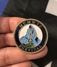 SURVIVAL USMC Mojave Viper MWTC Mountain Warfare Trng Ctr Challenge Coin 29 Palm