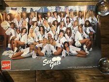 1993 Seattle Seahawks Seagals Coca Cola Cheerleaders Poster NFL Extremely Rare!