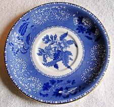 "SPODE 7"" CAMILLA SAUCER BLUE AND WHITE, WITH GOLD TRIM ALL AROUND FROM ENGLAND"