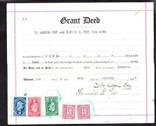 Us 3 Grant Deeds from 1927-1949 Cole Family California w/ Various Revenue Stamps