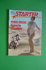 STARTER N.5/1985 POSTER BALILLA COPPA D'ORO PARIGI-DAKAR JAMES HUNT M.GUERRITORE